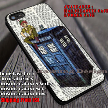 Never Grows Up Boy On Police Box, Peterpan, Tardis, Peterpan On Tardis, Disney Dictionary, case/cover for iPhone 4/4s/5/5c/6/6+/6s/6s+ Samsung Galaxy S4/S5/S6/Edge/Edge+ NOTE 3/4/5 #cartoon #animated #disney #peterpan #doctorWho ii