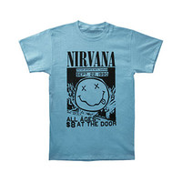 Nirvana Men's  Motor Sports Flyer T-shirt Blue Rockabilia