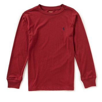 Ralph Lauren Childrenswear Little Boys 2T-7 Long-Sleeve Crew Neck Tee | Dillards
