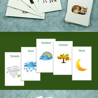 Any 3 sets of cards = 60 in Russian / French / German / Spanish with translation to English, Play fun game + Learn a language