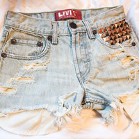 Lightened Levis high waisted shorts