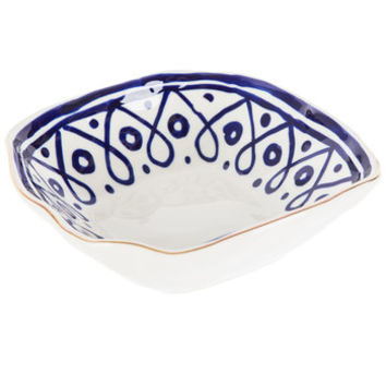 Dots & Loops Square Bowl With Gold Rim | Hobby Lobby | 5138714