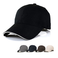NEW Baseball Hat Plain Cap Blank Curved Visor Hats Men Women Velcro Solid Color