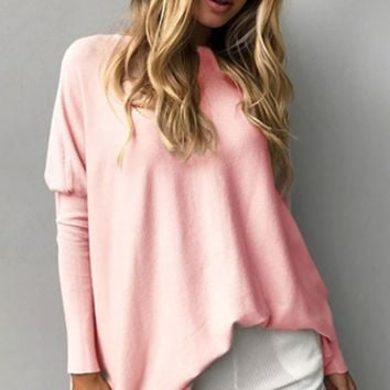 Good Intentions Long Puff Sleeve Wide Boat Neck Oversized Tunic Top - 3 Colors Available