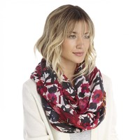 Sole Society Floral Print Infinity Scarf