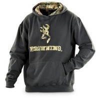 Browning Embroidered Hoodie, OLIVE, 2XL