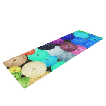 "Heidi Jennings ""Graceful"" Purple Teal Yoga Mat"