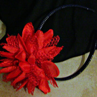 Red Flower Headband Hair Accessories Flower Woman Direct Checkout