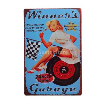Metal Tin Sign Art Poster Cafe Bar Pub Vintage Plaque Decor 10 Motorcycle Patterns