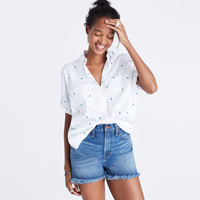Embroidered Cactus Courier Shirt : | Madewell