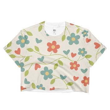 """Fresh Flowers"" Ladies Crop Top"