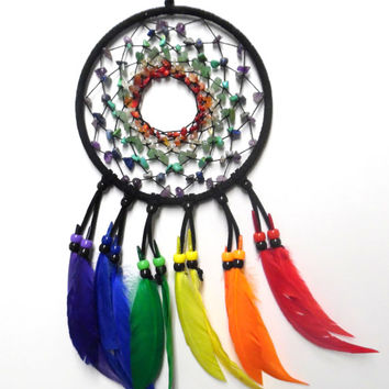 Chakra Gemstone Dream Catcher