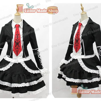 Danganronpa Celestia Ludenberg Cosplay Costume black dress