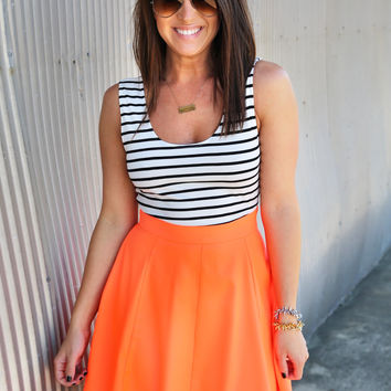 My Type Of Stripe Dress {Coral}