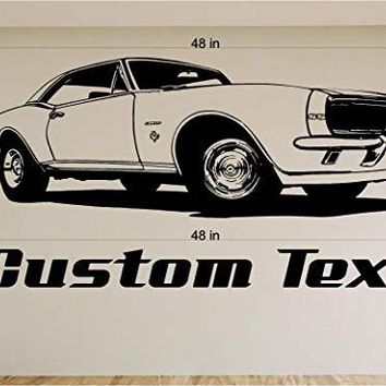 Chevy Camaro Car Wall Decals Stickers Graphics Man Cave Boys Room Décor