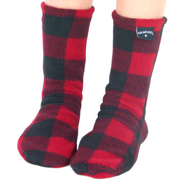 Kids' Fleece Socks - Lumberjack