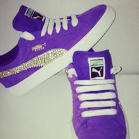 Crystalised Puma Suedes (purple) from RetroStarr
