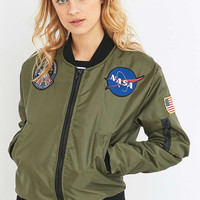 Urban Renewal Vintage Surplus NASA Patch MA1 Green Bomber Jacket - Urban Outfitters