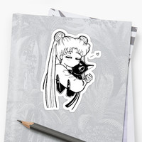 'Sailor Moon Usagi Luna' Sticker by dalecoopersama