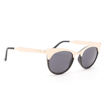 Kendall and Kylie Metal Top Round Frame Sunglasses at PacSun.com