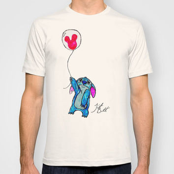 Stitch doesn't want to leave Disney World T-shirt by Trinity Bennett