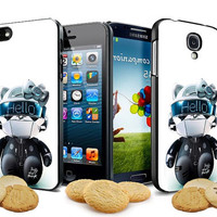 hello daft punk kitty robots design for iPhone 4, iPhone 4s, iPhone 5,5s,5c case Samsung Galaxy S3, Samsung Galaxy S4 Case