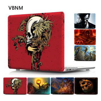 VBNM Skeleton Laptop Case for Macbook Pro 13 15 Inch Model A1706 A1707 A1708 Laptop Shell Cases for Apple