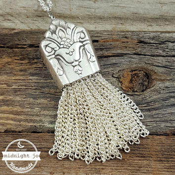 Her Majesty Knife Bell Tassel Necklace