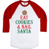 Eat Cookies-Unisex White/Red T-Shirt
