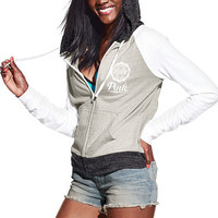 Beach Jersey Full-Zip Hoodie - PINK - Victoria's Secret