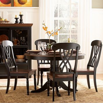 HomeVance Kaycee 5-pc. Dining Table & Chair Set (Black)