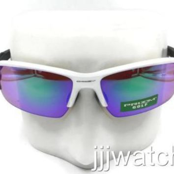 New Oakley Flak 2.0 Polished White PRIZM Golf Sunglasses OO9271 10 $173