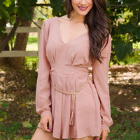 Racing Hearts Romper - Blush