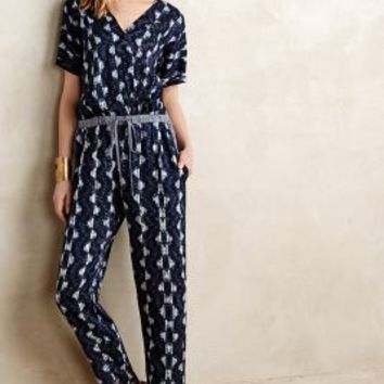 Narvan Jumpsuit by Velvet by Graham and Spencer Blue Motif