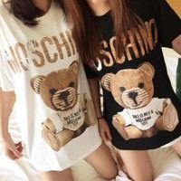 Moschino Hot letters print T-shirt top-2