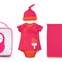 4 Piece Dreamsicle Pocket Zip Dress Gift Set