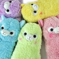 Alpacasso My Pencil Case- Plush Alpaca Pencil Case (Baby Pink)