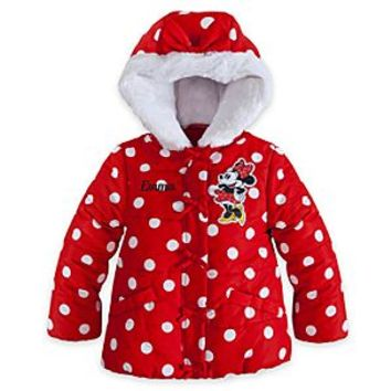 Minnie Mouse Hooded Puffy Jacket for Girls | Disney Store