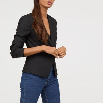 Fitted Blazer - Black - Ladies | H&M US