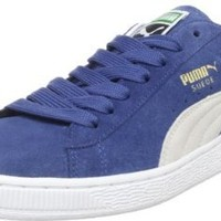 Puma Suede Archive Eco Sneaker,Ensign Blue/White,5.5 D US Men's/7 B US Women's
