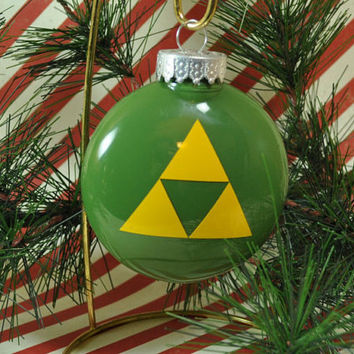 Triforce Ornament, Legend of Zelda Inspired Ornament, Link Christmas Ornament, Zelda Christmas Ornament, Hylian Ornament,