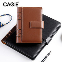 CAGIE 2017 Spiral Leather Notebook Office school Filofax Ring Binder Planner Agenda Personal Diary Sketchbook A6 A5 B5