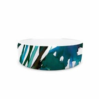 """Ebi Emporium """"Petal For Your Thoughts Teal"""" Turquoise Green Pet Bowl"""