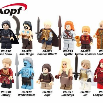 Super Heroes Game of Thrones Jon Snow Lord Varys Khai Drogo Ygritte Arya Bricks Building Blocks Best Children Gift Toys PG8029