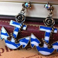 SPECIAL DEAL - Anchor Earrings - FREE SHIP
