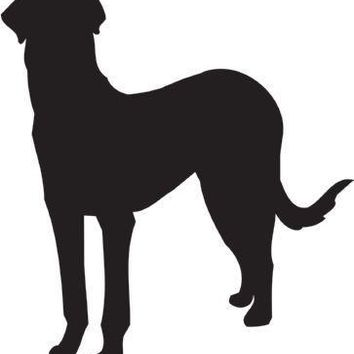 Rajapalayam Silhouette Dog Puppy Breed Long Die Cut Vinyl Transfer Decal Sticker