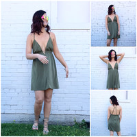 Ninah BabyDoll Dress in Olive