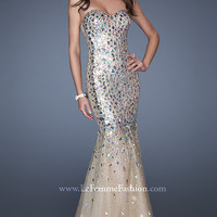 Beaded and Sequined Mermaid Gown