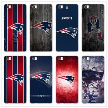 New England Patriots Logo Soft TPU Phone Accessories for Huawei P8 P9 P10 P20 Mate 10 Pro Y5 Y6 II Y7 Honor 6X 7X 9 Lite Cases