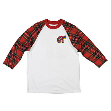 Odd Future Official Store   PLAID DONUT RAGLAN RED